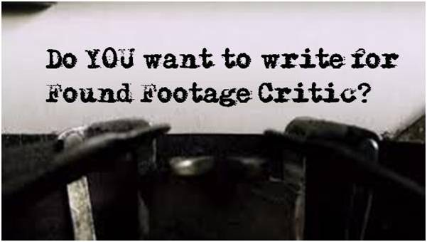 Write for Found Footage Critic