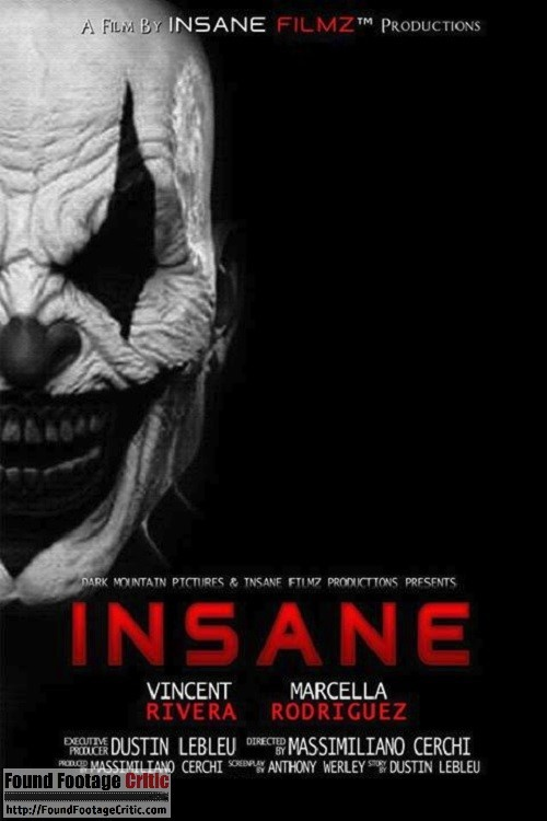 Insane (2015) - Found Footage Films Movie Poster (Found Footage Horror)