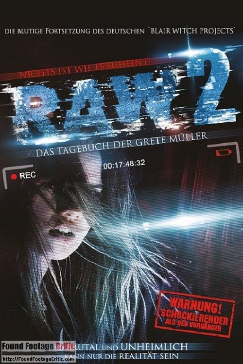Raw 2: Das Tagebuch Der Grete Muller (2015) - Found Footage Films Movie Poster (Found Footage Horror)